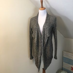 Lou & Grey Marled Knit Open Cardigan XS
